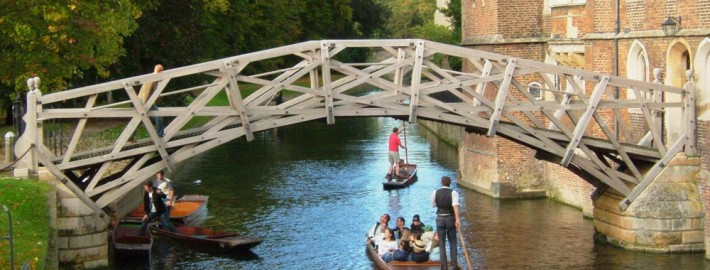 Picture of a the Mathematical Bridge at Cambridge